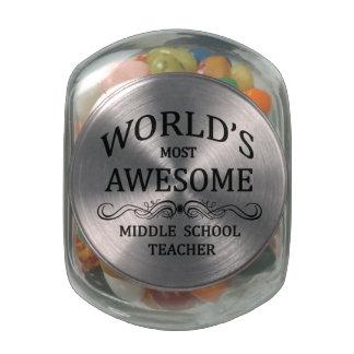 El profesor de la escuela secundaria más impresion frascos de cristal jelly belly