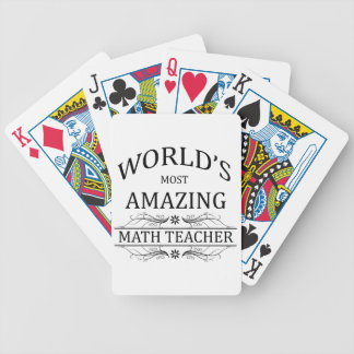 El profesor de la matemáticas más asombroso del barajas de cartas