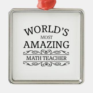 El profesor de la matemáticas más asombroso del mu ornamento para reyes magos