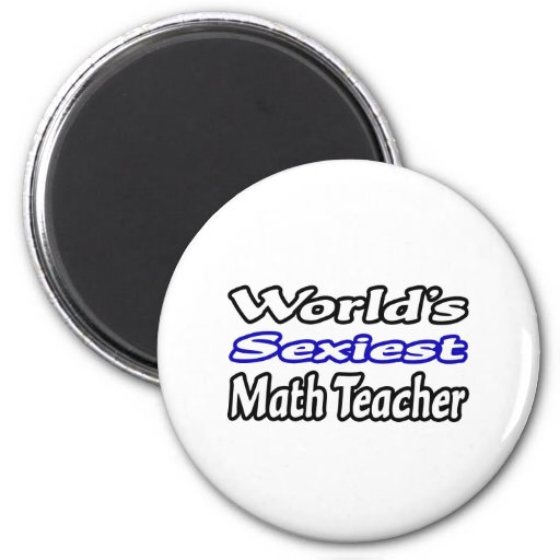 El profesor de la matemáticas más atractivo del mu imán redondo 5 cm
