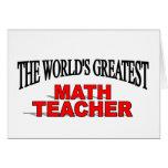 El profesor de la matemáticas más grande del mundo tarjeta
