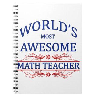 El profesor de la matemáticas más impresionante de libretas