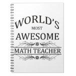 El profesor de la matemáticas más impresionante de libretas espirales