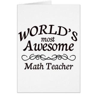 El profesor de la matemáticas más impresionante de tarjeta de felicitación