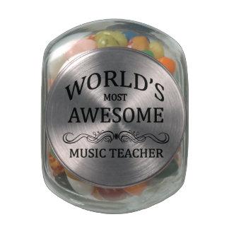 El profesor de la música más impresionante del mun frascos de cristal jelly belly