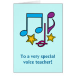 El profesor de la voz le agradece cardar felicitacion