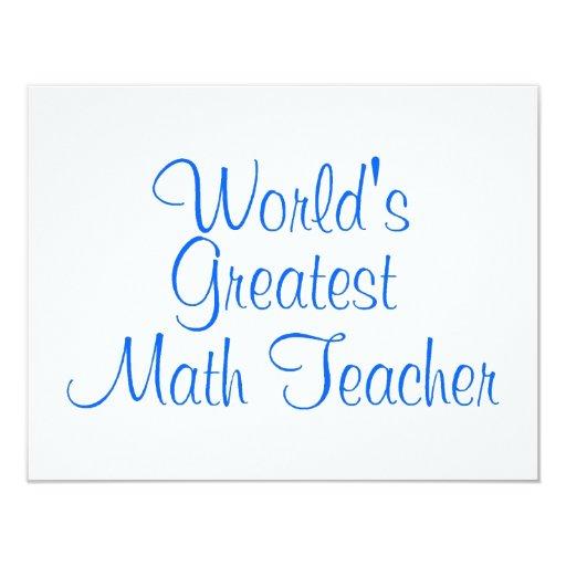 El profesor de matemáticas más grande de los invitación personalizada