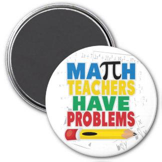 El profesor de matemáticas tiene problemas imán redondo 7 cm
