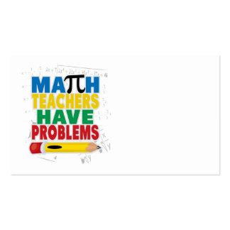 El profesor de matemáticas tiene problemas tarjetas de visita