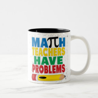 El profesor de matemáticas tiene problemas taza de dos tonos