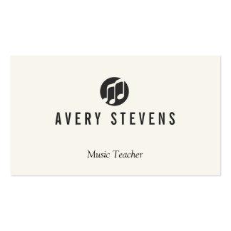 El profesor de música, música observa el logotipo, tarjetas de visita