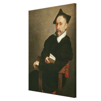 """El """"profesor de Titian"""", C. 1575 Lienzo Envuelto Para Galerías"""