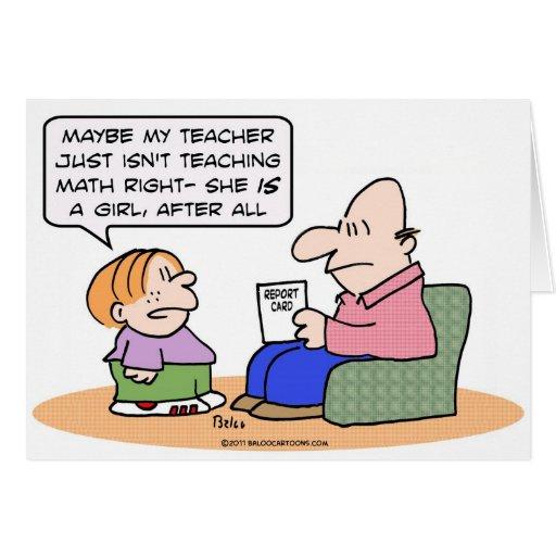 el profesor del chica enseña matemáticas al boletí tarjetón