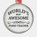 El profesor del piano más impresionante del mundo adornos de navidad