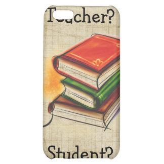 El profesor/el estudiante de los libros añade el i