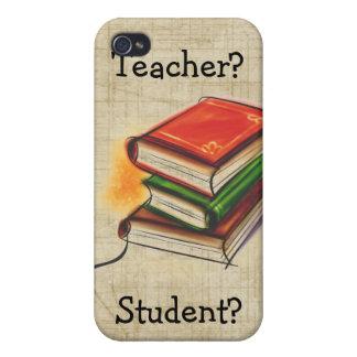 El profesor/el estudiante de los libros añade el i iPhone 4 coberturas