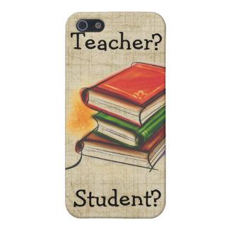El profesor/el estudiante de los libros añade el i iPhone 5 fundas