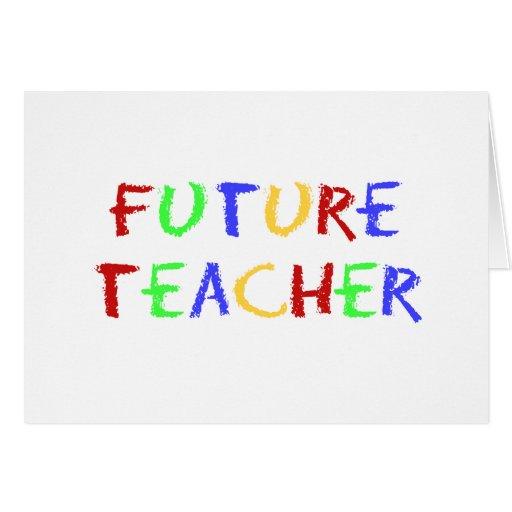El profesor futuro embroma el regalo tarjeton