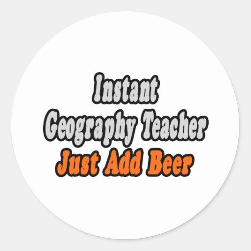 El profesor inmediato de la geografía… apenas añad etiqueta redonda