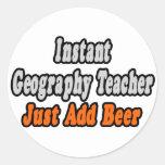 El profesor inmediato de la geografía… apenas añad etiquetas redondas
