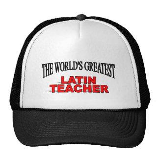 El profesor latino más grande del mundo gorros
