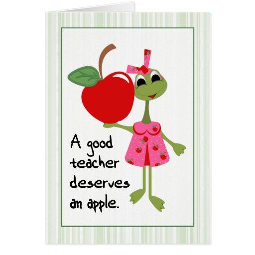 El profesor le agradece cardar tarjeta