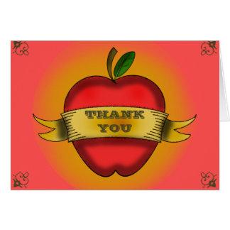 El profesor le agradece cardar tarjeta de felicitación