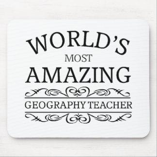 El profesor más asombroso de la geografía del mund tapete de ratón