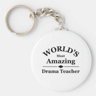 El profesor más asombroso del drama del mundo llavero redondo tipo pin