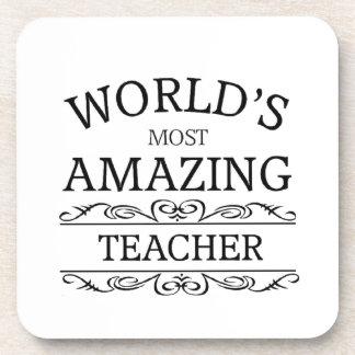 El profesor más asombroso del mundo posavasos de bebida