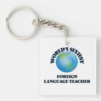 El profesor más atractivo del idioma extranjero llavero