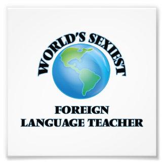 El profesor más atractivo del idioma extranjero impresiones fotograficas
