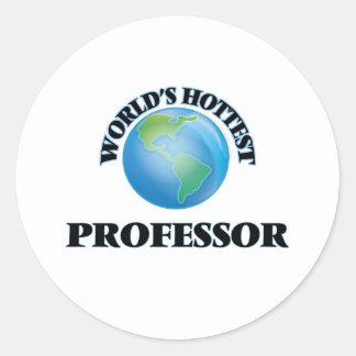 El profesor más caliente del mundo etiqueta redonda