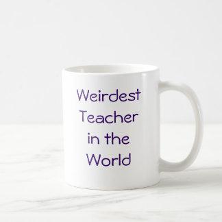 El profesor más extraño en el mundo taza de café
