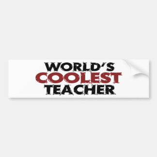 El profesor más fresco de los mundos pegatina para auto