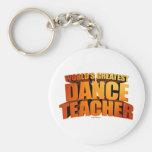 El profesor más grande de la danza del mundo llaveros personalizados