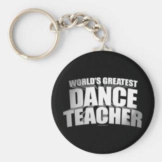 El profesor más grande de la danza del mundo llavero redondo tipo pin