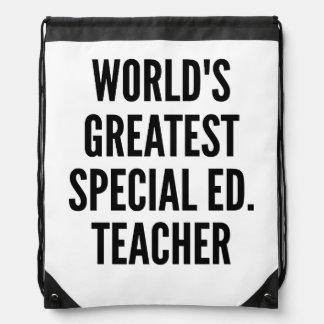 El profesor más grande de la educación especial de mochila