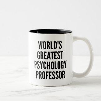 El profesor más grande de la psicología de los taza de café de dos colores