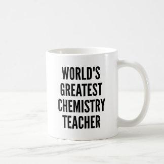 El profesor más grande de la química de los mundos taza básica blanca