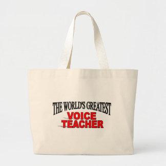 El profesor más grande de la voz del mundo bolsa lienzo