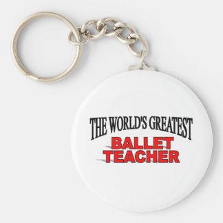El profesor más grande del ballet del mundo llavero redondo tipo pin