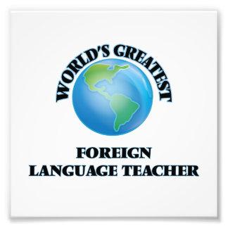 El profesor más grande del idioma extranjero del fotografía