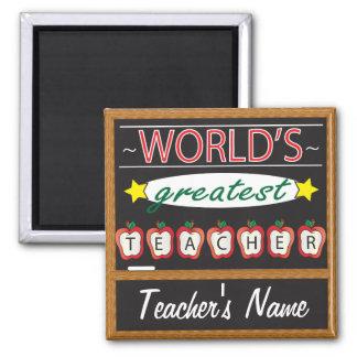 El profesor más grande del mundo el | personaliza imán cuadrado