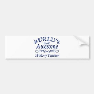 El profesor más impresionante de la historia del m pegatina para auto