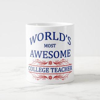 El profesor más impresionante de la universidad de taza grande