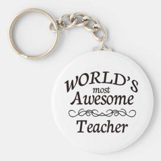 El profesor más impresionante del mundo llavero redondo tipo pin