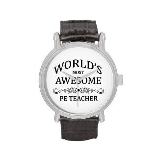 El profesor más impresionante del PE del mundo Relojes De Mano