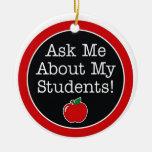 el profesor me pregunta acerca de mis estudiantes adorno