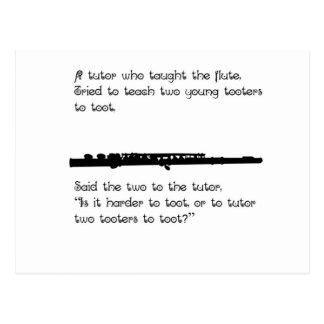 El profesor particular de la flauta postal